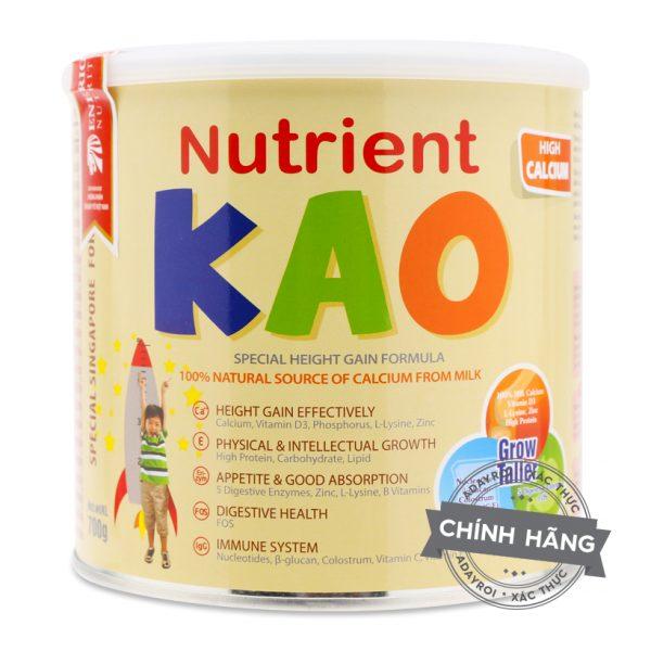 Sữa Nutrient KAO (Hộp 700G - Cho trẻ từ 1 - 6 tuổi) chính hãng giá tốt