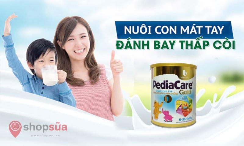 Đánh giá sữa PediaCare Gold cho trẻ từ 6 đến 12 tháng | Shopsua.vn