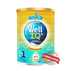 Sữa Anka Well IQ+ Step 1 (Hộp 900g) nhập khẩu chính hãng cho trẻ từ 0 - 6 tháng