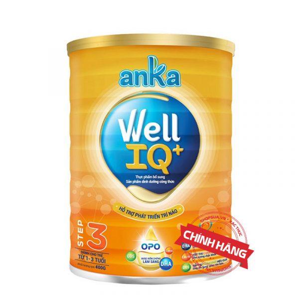 Sữa Anka Well IQ+ Step 1 (Hộp 400g) nhập khẩu chính hãng cho trẻ từ 1 - 3 tuổi