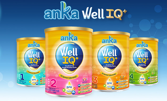 Hiện tại trên thị trường sản phẩm sữa Anka Well IQ+ nhập khẩu chính hãng được chia làm 4 loại, tương ứng với 4 giai đoạn phát triển của trẻ nhỏ.