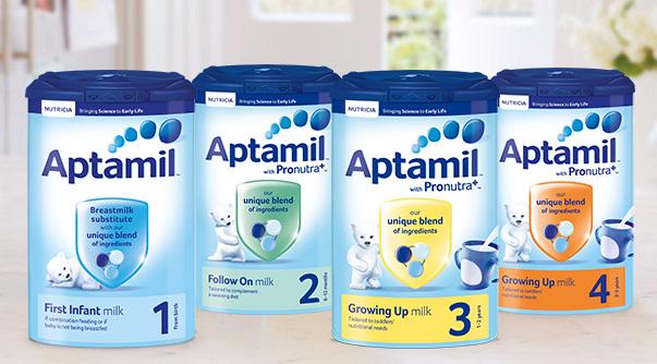 Sữa Aptamil trên thị trường có mấy loại?