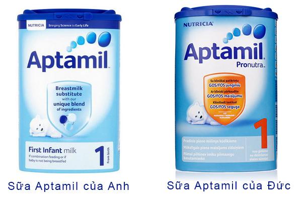 Sữa Aptamil Anh và Aptamil Đức loại nào tốt hơn? | Shopsua.vn