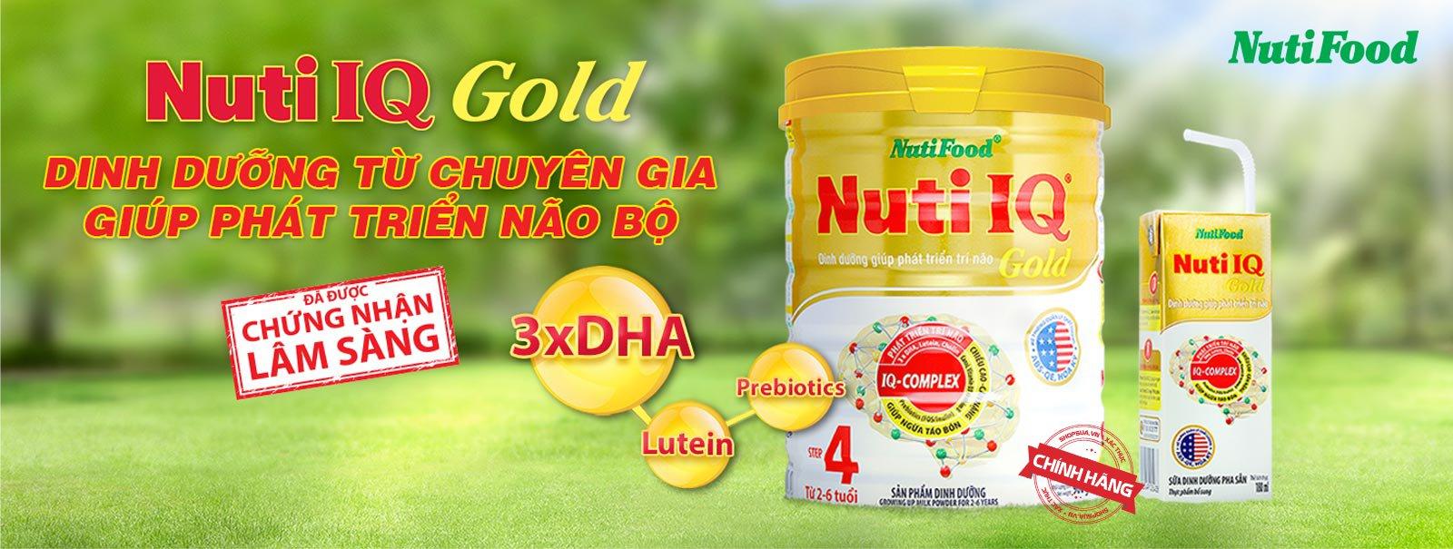 Sữa Nuti IQ Gold 1, 2, 3 & 4 chính hãng cho trẻ từ 0 - 6 tuổi | Shopsua.vn