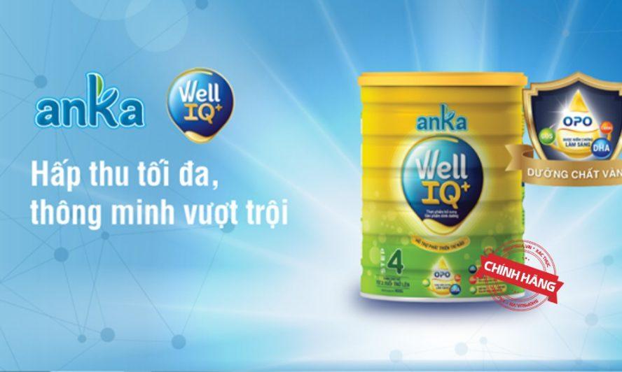 Sữa Anka Well IQ+ nguồn dinh dưỡng hoàn hảo cho trẻ em Việt