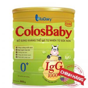 Sữa non ColosBaby Gold 0+ (hộp 800g) chính hãng cho trẻ từ 0-12 tháng tuổi