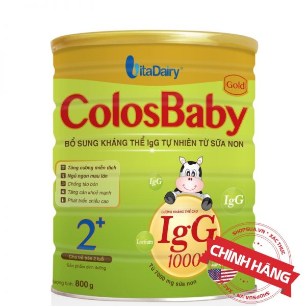 Sữa non ColosBaby Gold 2+ (hộp 800g) chính hãng cho trẻ trên 2 tuổi